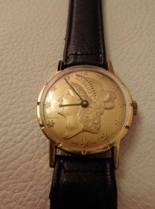 Uhr In Form Einer Amerikanischen Münze - Sehr Selten Bild