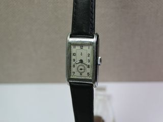 Gub Glashütte - Rechteckige Armbanduhr Mit Urofa 58 Uhrwerk.  Men ' S Wrist Watch Bild