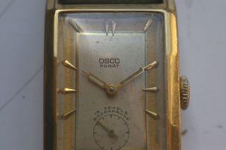 Osco Parat Armbanduhr Der 1940er Jahre Formwerk Kaliber Osco 42 Sammleruhr Bild