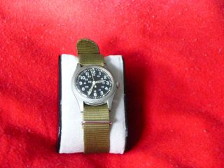 Hamilton H3 Militäruhr,  Herren Armbanduhr Mit Handaufszug,  Nylonband Oliv Bild