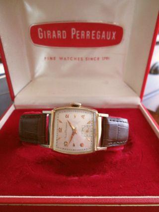 Vintage 40er Jahre Art Deco Girard - Perregaux Hau 10k Vergoldet,  Handaufzug,  Box Bild