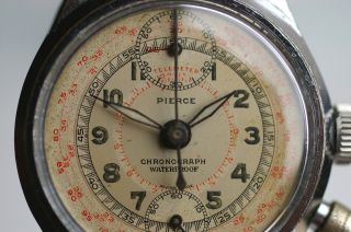 Pierce One - Button Waterproof - Chronograph Verschr.  Boden 1930er Jahre Top Rarität Bild