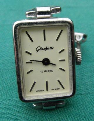 Klassische Ddr Glashütte Uhr Armbanduhr Damen 17 Rubis Sammlerstück Um 1970 - 80 Bild