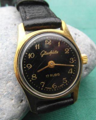 Klassische Ddr Glashütte Uhr Armbanduhr Damen 17 Rubis Sammlerstück Um 1960 - 70 Bild