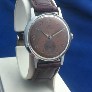 Umf Ruhla M2 Präzisa,  2,  29 - 11,  Braun Zifferblatt,  Schöne Uhr Das 1960 Jahre Bild