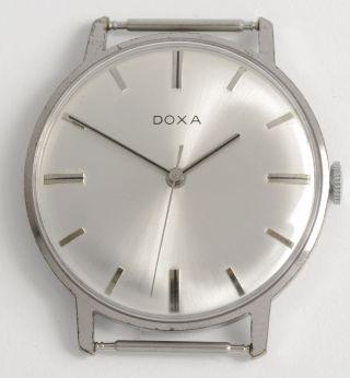 Doxa Schöne Klassische Schweizer Armbanduhr.  Swiss Made Vintage Dress Wristwatch Bild