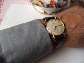 Longines Herrenarmbanduhr,  585 Gold,  Edel,  Exclusiv Und Elegant Note Optik 1 - 2. Bild