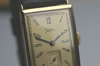 Zentra Armbanduhr Nahezu Neuwertige Rare Sammleruhr 1930er Jahre Formwerkkaliber Bild