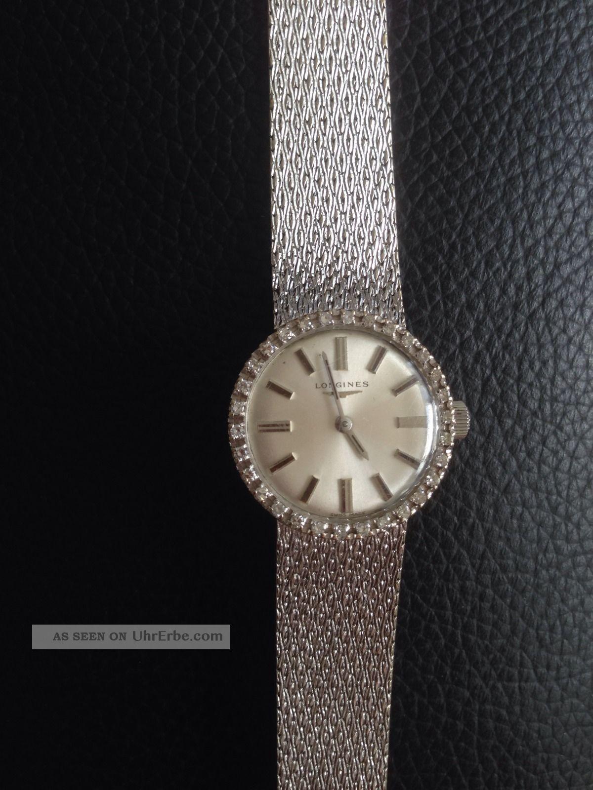 Longines 750  18k Weissgold Mit Diamanten  32g