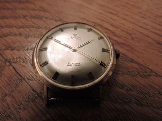 Stowa Gold 585 Handaufzug Armbanduhr Plexi Vintage Sehr Gut Erhalten Bild