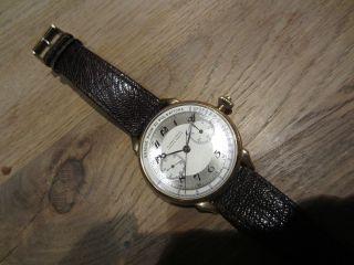 Ulysse Nardin Chronograph 18k 750 Gold Einmalige Rarität Chronometer Fliegeruhr Bild