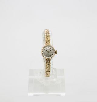 Dugena Damenuhr Mit Handaufzug - Werk Vintage Uhr In 585/000 Gelb - Gold Bild