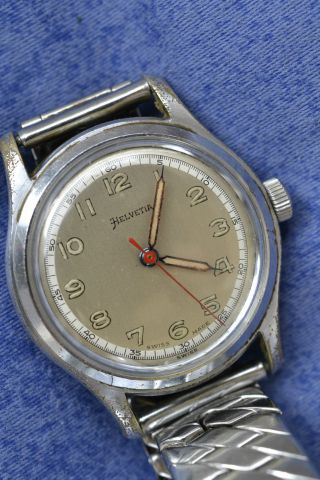 Herrenarmbanduhr Helvetia General Watch Company Ca.  40er Jahre Bild