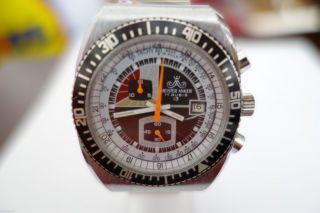SchÖne Gepflegte Meister$anker Chronograph Uhr In Stahl Handaufzug 37mm Bild