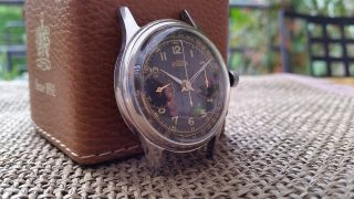 Orig.  Angelus Flieger Chronograph Kaliber Angelus 215 1940er Bild