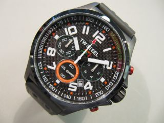 Tw Steel Tw - 431 Sahara Force India Chronograph Titanium Plated Carbon Formel 1 Bild