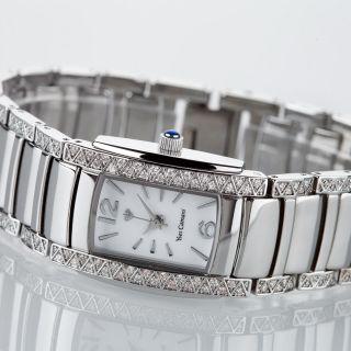 Yves Camani Juliette Crystal Damenuhr Edelstahl Silber Zirkonia Kristalle B - Ware Bild