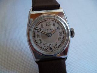 Wunderschöne Alte Bifora - Armbanduhr,  Interessantes Gehäuse Artdeco Bild
