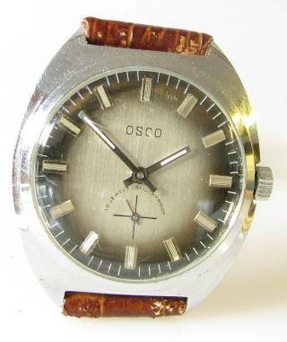 Mechanische Osco Herren - Armbanduhr Mit Edelstahl Gehäuse Bild