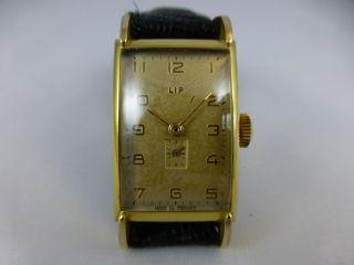 Lip Kal T18,  Handaufzug,  Vergold.  Geh. ,  Vintage 1920 - 70 Bild