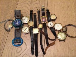 Konvolut Uhren / 13 Mechanische Uhren / Handaufzug / U.  A.  Kienzle,  Timex,  Ruhla Bild