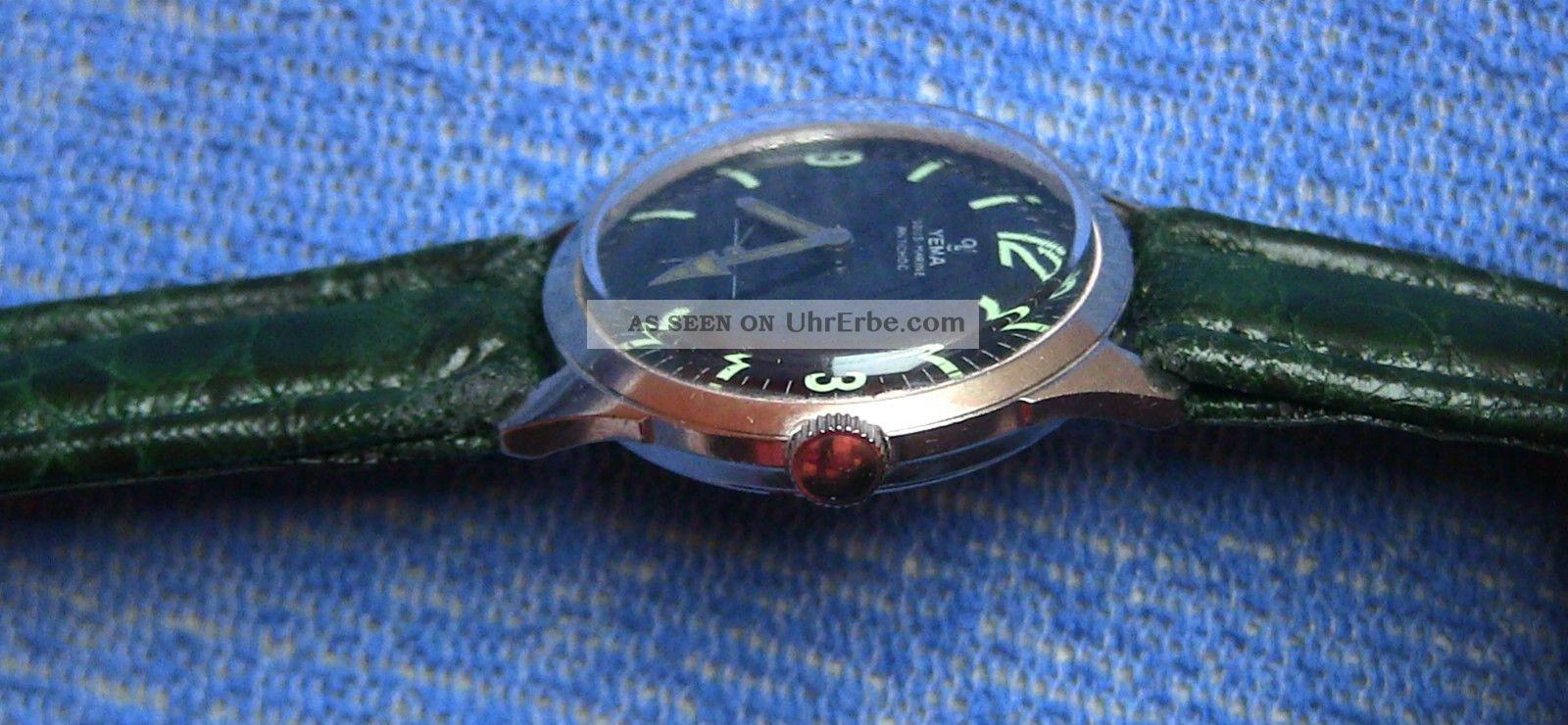 1970er Yema Sous Marine - Mechanische Herrenuhr/taucheruhr In Edelstahl Armbanduhren Bild