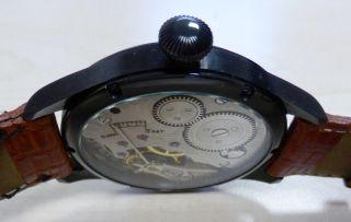 Parnis Fliegeruhr 44mm Handaufzug Black Vintage Herrenuhr Bild