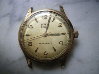 Bwc Armbanduhr Läuft,  Zum Herrichten Sammlerstück Bild