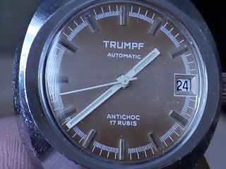 Große Herrenarmbanduhr Trumpf Um 1950 Automatik Bild