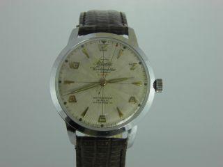 Atlantic Vintage Herren - Armbanduhr Worldmaster Gents 36 Mm 1950 Jahre Rar Bild