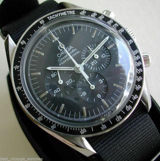 Omega Speedmaster Moon Watch V 1970, Sehr Gut Erhalten, 42mm Klassiker Bildschön Bild