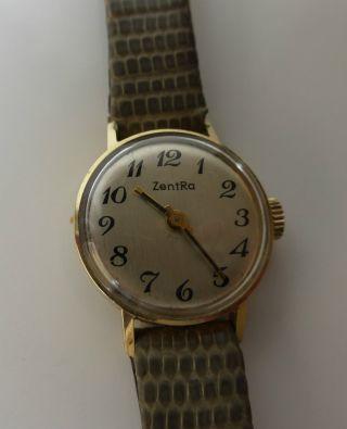 Damen Golduhr Zentra 585er Gold - Vintage Zentra Damenuhr Handaufzug Bild