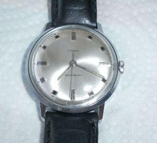 Vintage Herrenarmbanduhr Hau Timex 1970 Lederarmband Läuft Perfekt Bild
