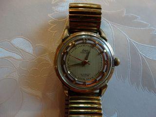 Goldene Luga Armbanduhr Precision 16 Rubis Incabloc Swisseb Bild