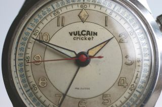 Vulcain Cricket Armbandwecker 1940er Jahre Frühe Produktion Sammleruhr Rarität Bild