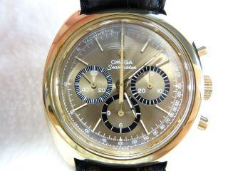 Omega Seamaster - Klassisch Eleganter Chronograph Von Omega - Vergoldet Bild