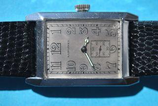 Longines Rechteckige Uhr Von 1929 Mit Seltenem Uhrwerk 10 86 N Bild