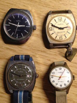 Konvolut Von 4 Ruhla Uhren Handaufzug Bild