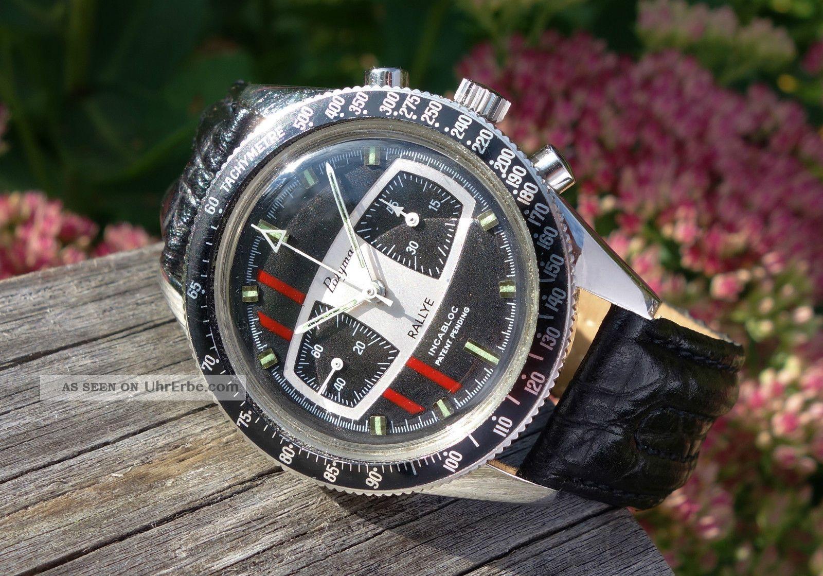Polymac Yema Rallye Valjoux 7730 Chronograph,  Patent Pending Armbanduhren Bild