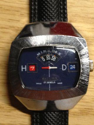 Sicura Breitling Digital Jumping Hour Handaufzug Bild