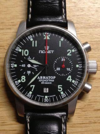 Poljot Handaufzug Chronograph Bild
