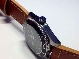 Parnis Herren Armbanduhr 43mm Miyota 821a Automatik Saphirglas Lederband 10 Bar Bild