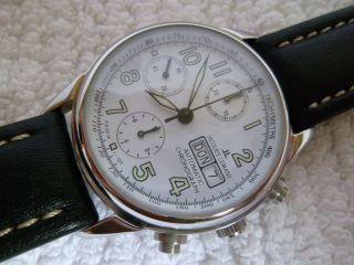 Jacques Lemans Valjoux 7750 Automatic Chronograph 80er Swiss Sammlerzustand Bild