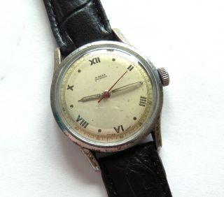 Alte Herren Militär Armbanduhr Der 1940er Jahre Military Bild