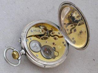 Edle Iwc Schaffhausen Taschenuhr Silber 800 Silver Pocket Watch Bild