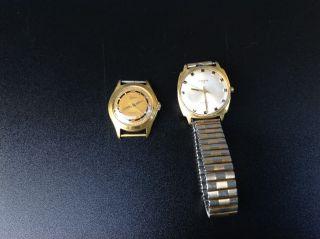 Zwei Alte Bifora Uhren Aus Nachlass Vintage Uhren Bild