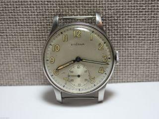 Militär Armbanduhr Eterna Aus Den 40er Jahren.  Kaliber 852.  Stahlgehäuse Bild