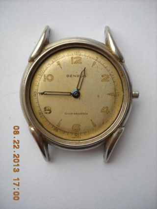 Benrus,  Armbanduhr,  Handaufzug,  Edelstahl Schraubgehäuse,  Werk Model Bh11,  (eta) Bild