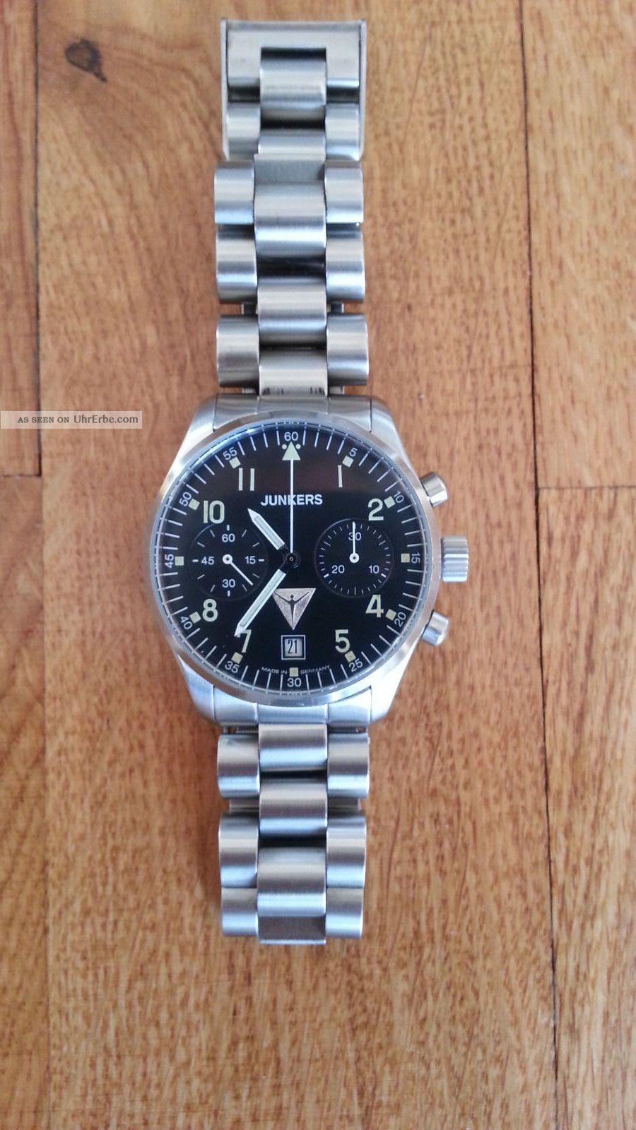 Chronograph Junkers 6202 - 1 Kaliber P3133 Handaufzug Armbanduhren Bild