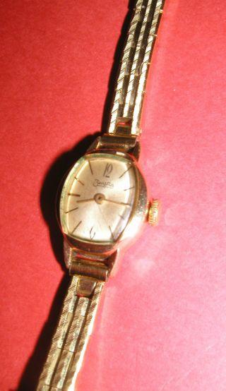 Damenuhr Zentra Handaufzug Läuft Rolled Gold Bezel 20 Microns Rw Fww Armbanduhr Bild